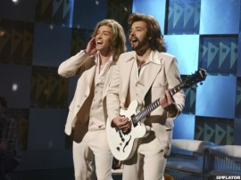 Justin Timberlake and Jimmy Fallon Barry Gibb Talk Show SNL