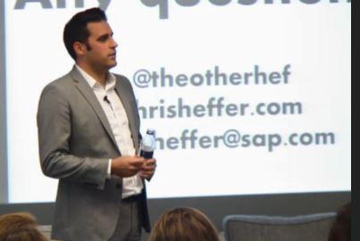 Speaking at social media week