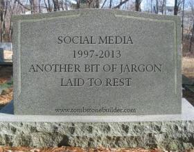 social media RIP tombstone