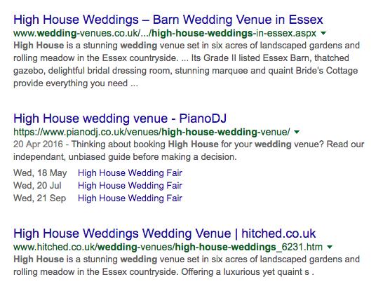 structured data wedding venue