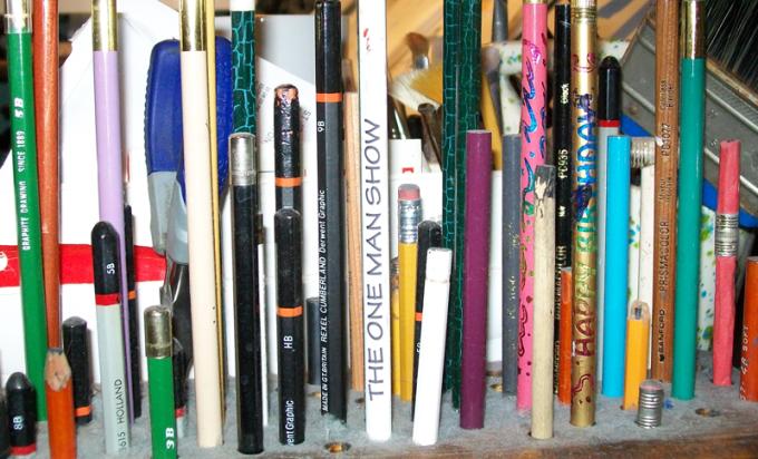 block of pencils
