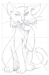 My reproduction of the cat drawing