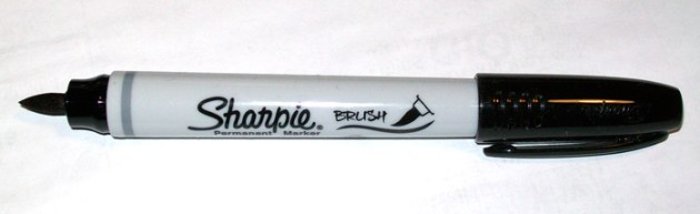Sharpie Brush marker