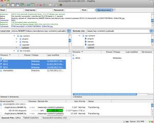 transferring images via FTP