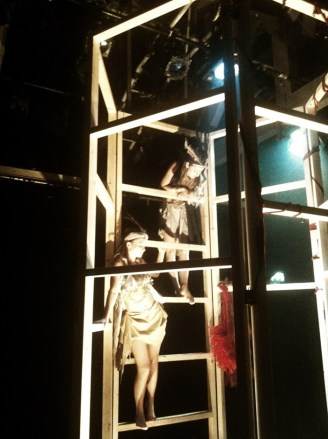 Philomele (Lucia Young) and Procne (Leanna Wigginton) on the frame.
