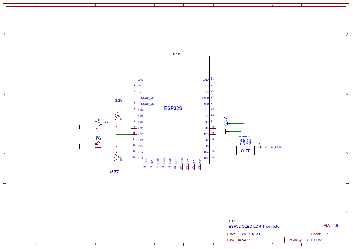 Esp32 Light Temperature Oled Thoughts And Stuff Thermistors Wiring In Parallel Circuit Diagram