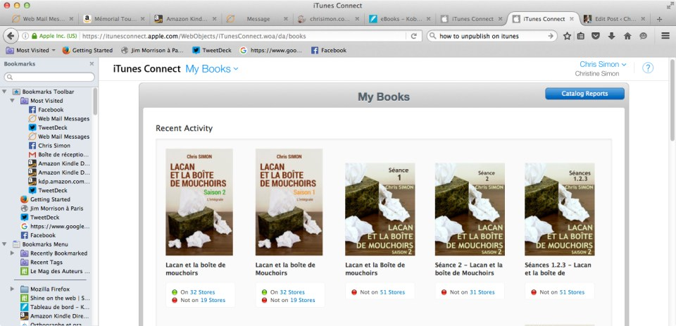 catalogue livres itunes