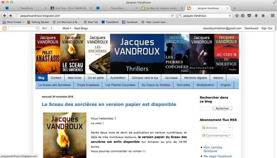 Jacques Vandroux Blog
