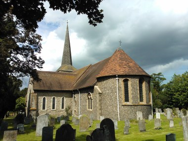 St Martins Church in Eynsford in the sunshine. Lovely.