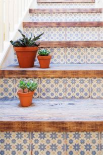 Tile under staircase - deliciouslyella