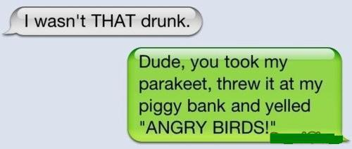 Angry Birds Drunk Text