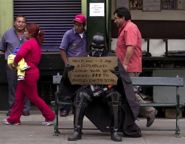 Darth Vader Will Work For Food