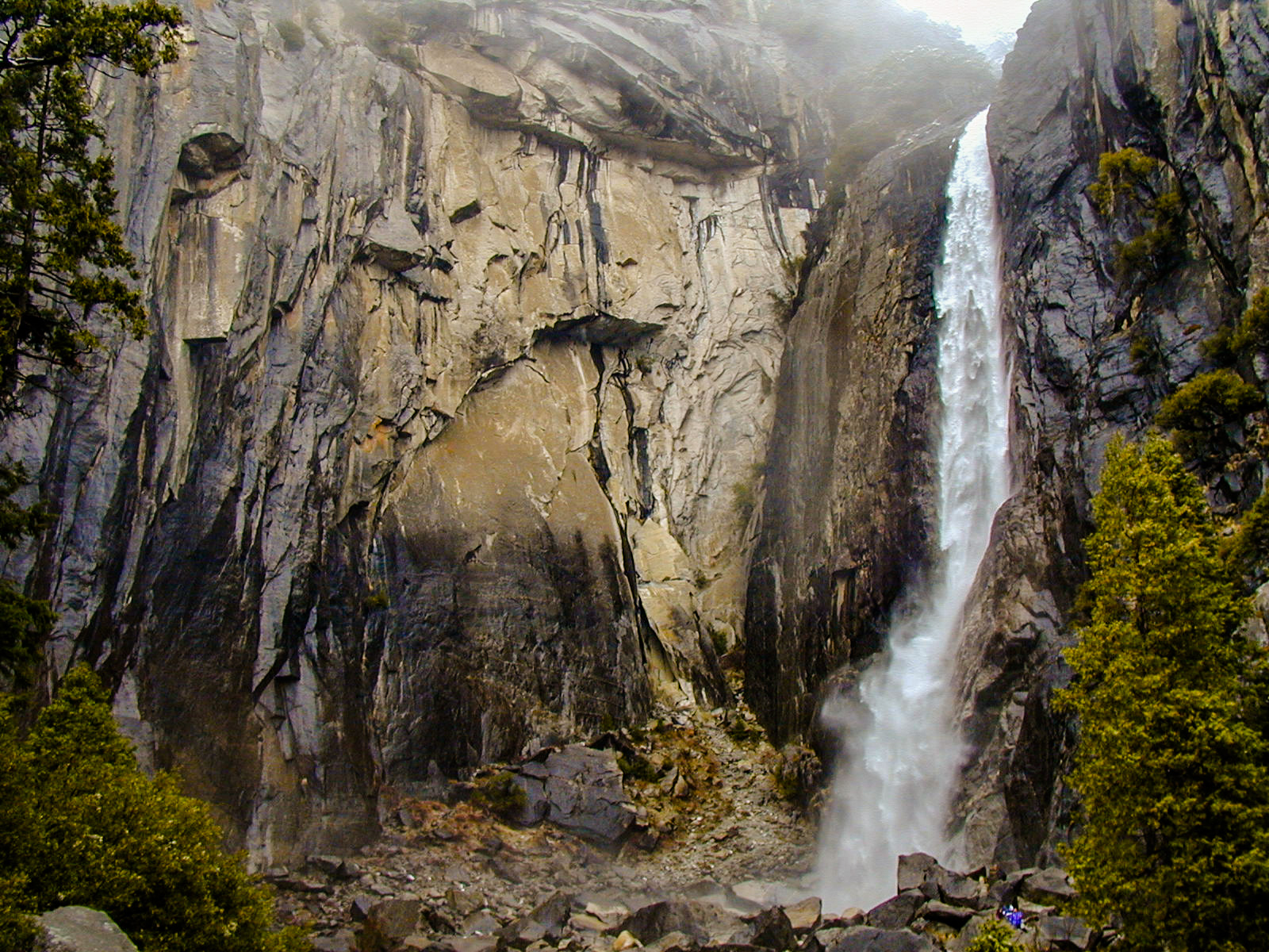 One of Yosemite's many waterfalls