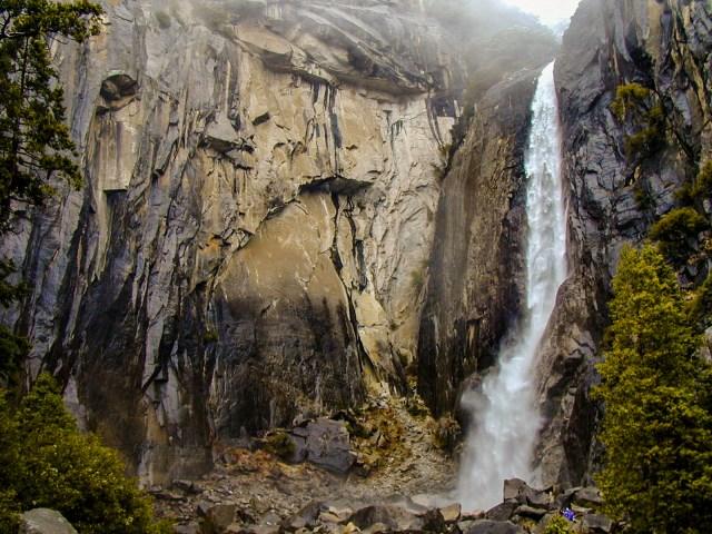 One of Yosemite's many waterfalls