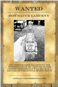 Hot Sauce Wanted Poster