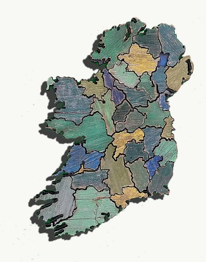 Map of Ireland made from Reclaimed fencing  recycled  reclaimed     Map of Ireland made from Reclaimed fencing  recycled  reclaimed wooden map   vintage