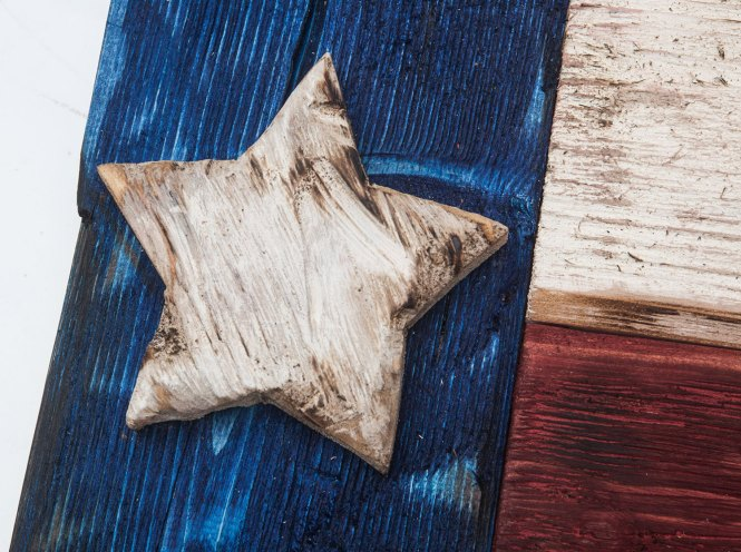 Weathered Wood One Of A Kind Texas Flag Wooden Vintage Art