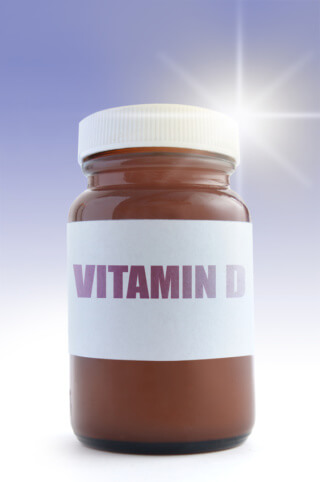 Vitamin D bottle