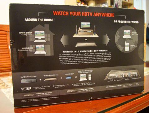 SlingBox Pro HD外盒背面