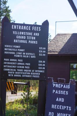 黃石公園門票表