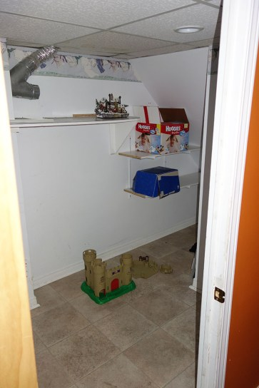 Laundry room in basement