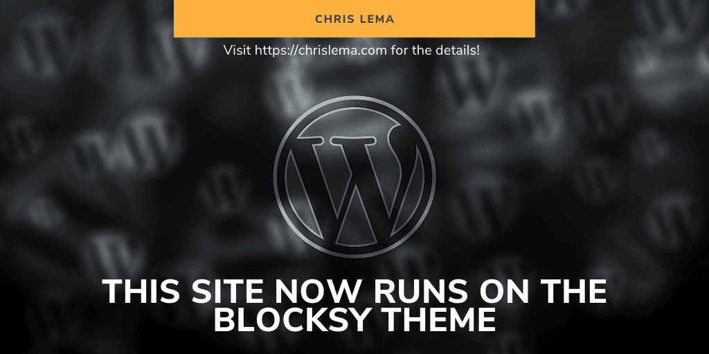 This site now runs on the Blocksy theme