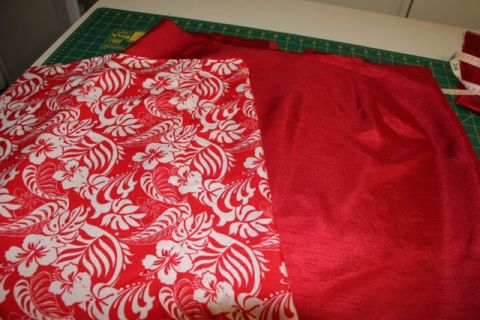 Pencil Skirt - New lining chosen for red skirt