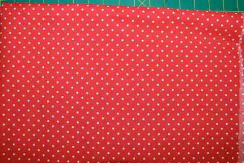 Red and White Small Polka Dot fabric