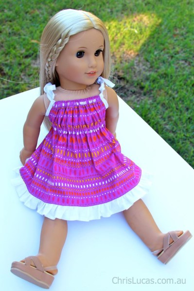 "Australian Girl Dolls Dress - Pretty in Pink - Also fits American Girl dolls, Our Generation Dolls and other similar size 18"" dolls"