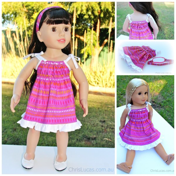 Australian Girl Dolls Dress - Pretty In Pink