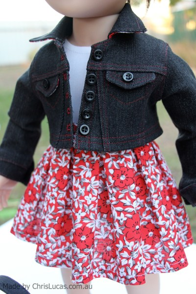 Australian Girl Doll Denim Jacket and matching pleated skirt
