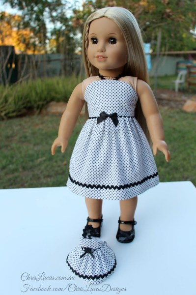 American Girl Dolls Dress and Mini AG Dolls Dress - Chris Lucas Designs