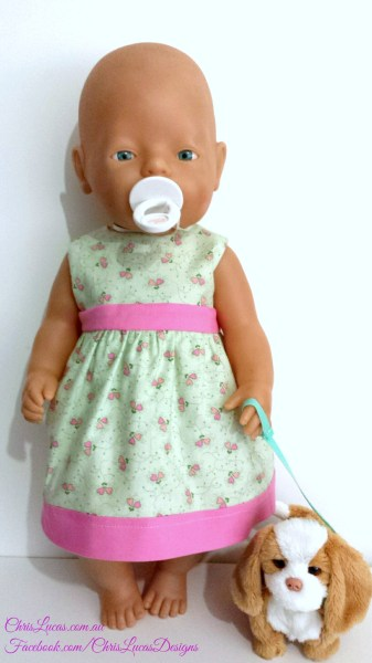 Reversible Dress - Baby Born Dolls - Chris Lucas Designs