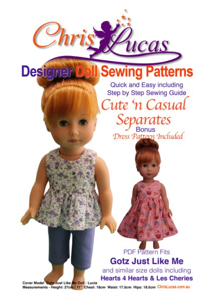 Pattern released – Cute n Casual for Gotz Just Like Me and similar size dolls