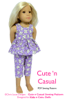 Chris Lucas Designs - Cute n Casual - KIDZ n CATS doll Sewing Pattern - Capri Pants and Top