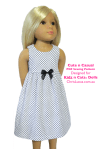Chris Lucas Designs - Cute n Casual - KIDZ n CATS doll Sewing Pattern - Dress