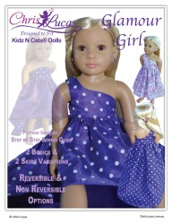 Kidz N Cats Doll Sewing Pattern - Glamour Girl - Chris Lucas Designs