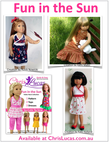 Kidz N Cats - Fun in the Sun - Inspiration - Doll Sewing Pattern