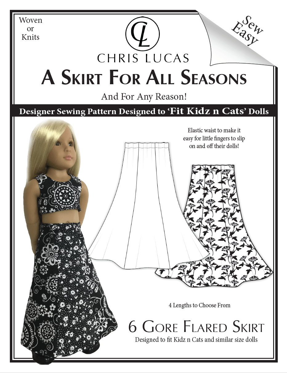 A Skirt for All Seasons - Sewing Pattern for Kidz N Cats® dolls ...