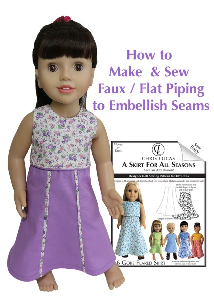 Faux Piping – How to make & sew faux piping into a seam