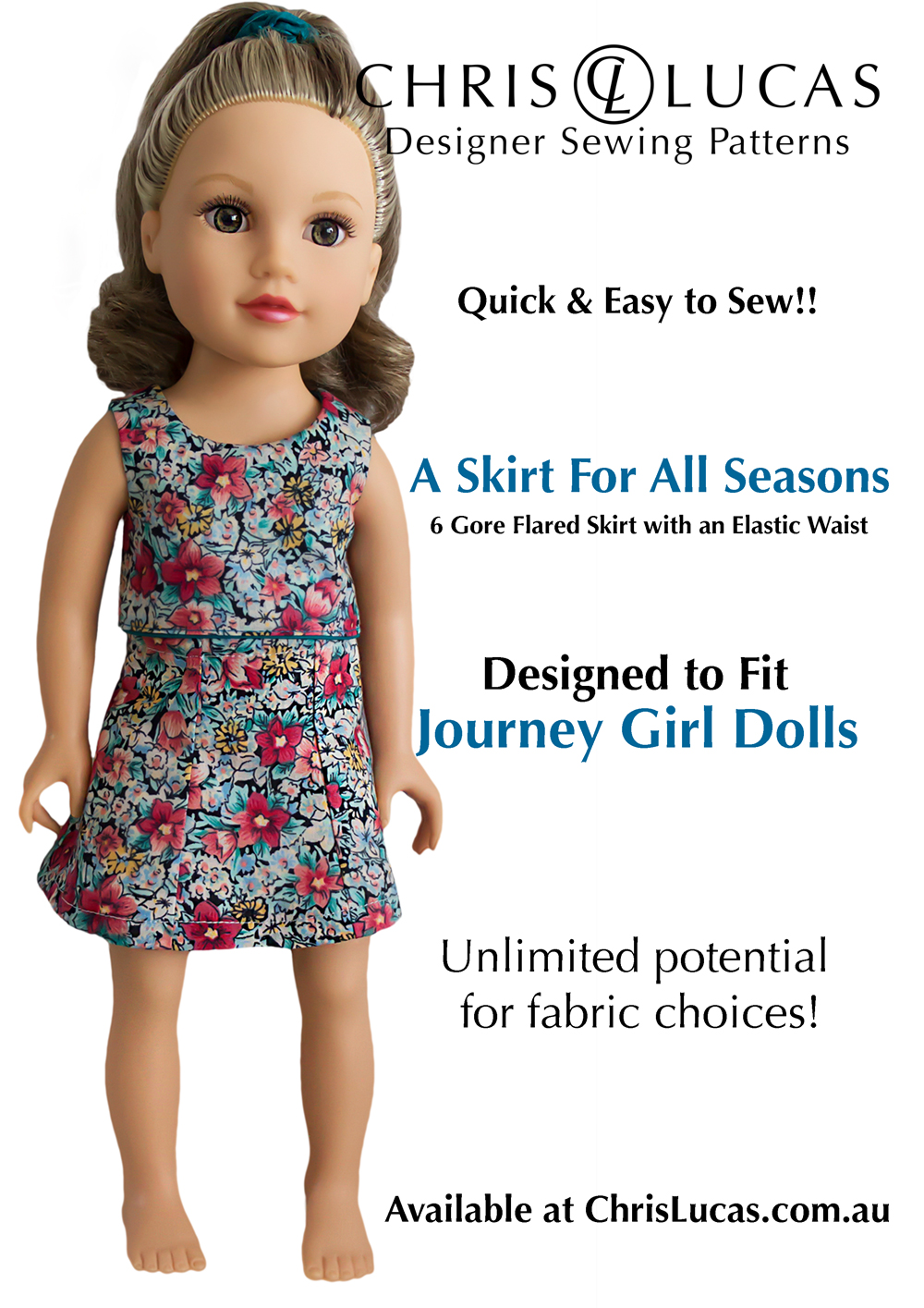 Journey girl dolls sewing pattern a skirt for all seasons journey girl dolls sewing pattern 2 a skirt jeuxipadfo Images