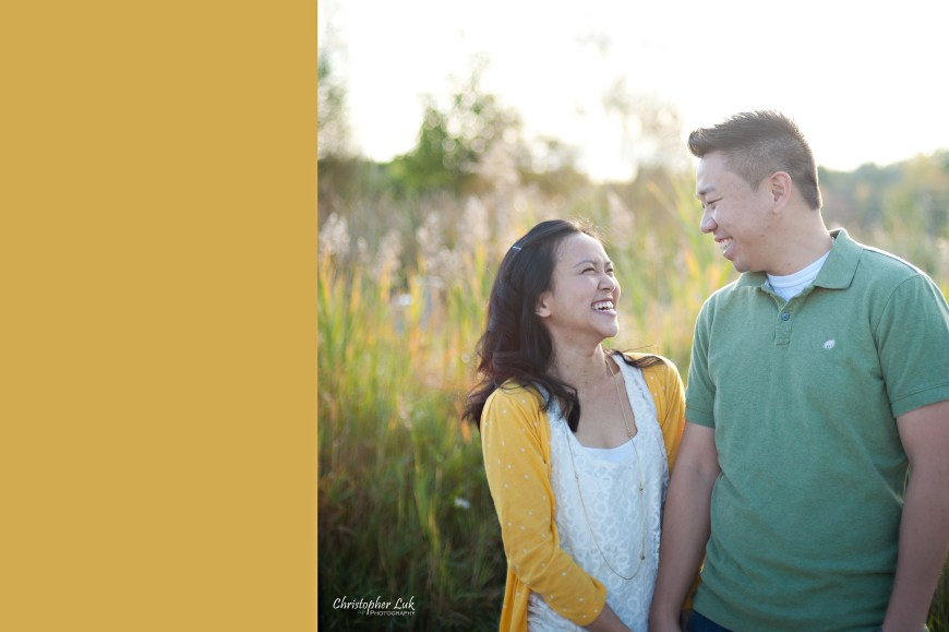 Christopher Luk 2012 - Engagement Session - Emily and Ken - Markham Toronto Portrait Wedding Lifestyle Lifetime Photographer - Looking at each other Laugh Smile