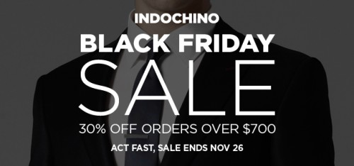 Indochino - Custom Made to Measure Menswear - Black Friday 2012