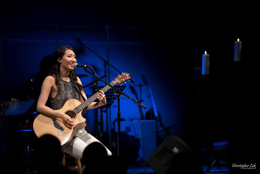 Rachelle Luk Live Concert Gospel Music Association Canada Covenant Award Winner Singer Songwriter Taylor Guitars Acoustic Holes in Heaven