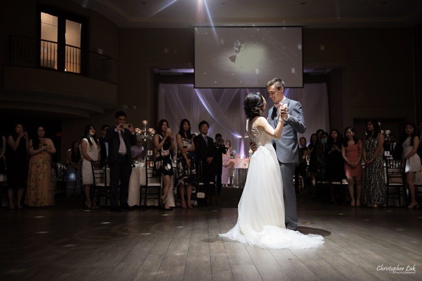 Christopher Luk Toronto Wedding Photographer - Casa Loma Conservatory Ceremony Creative Photo Session ByPeterAndPauls Paramount Event Venue Space Eastwood Room Bride Groom Natural Candid Photojournalistic First Dance Guests Dance Floor Wide