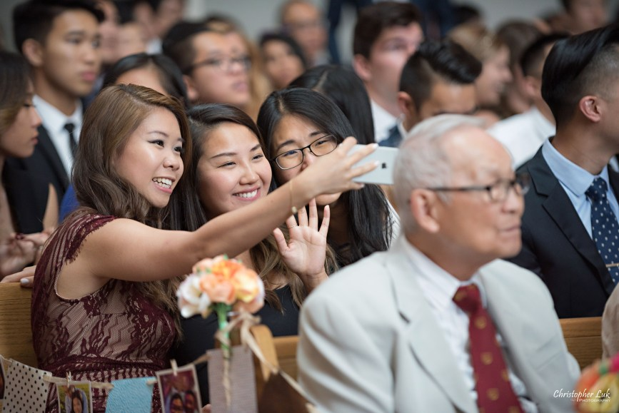 Christopher Luk - Toronto Wedding Photographer - Markham Chinese Baptist Church MCBC Christian Ceremony - Natural Candid Photojournalistic Girl Friends Group Selfie