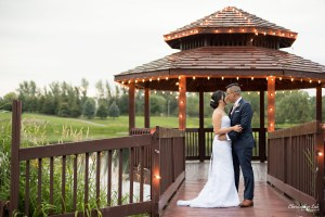 Christopher Luk - Toronto Wedding Photographer - The Manor Event Venue By Peter and Paul's - Bride and Groom Natural Candid Photojournalistic Creative Session Golden Hour Gazebo Lights Hug