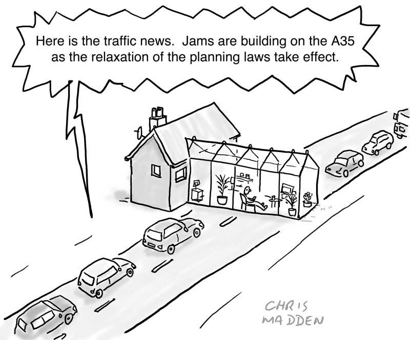 planning regulations relaxed cartoon