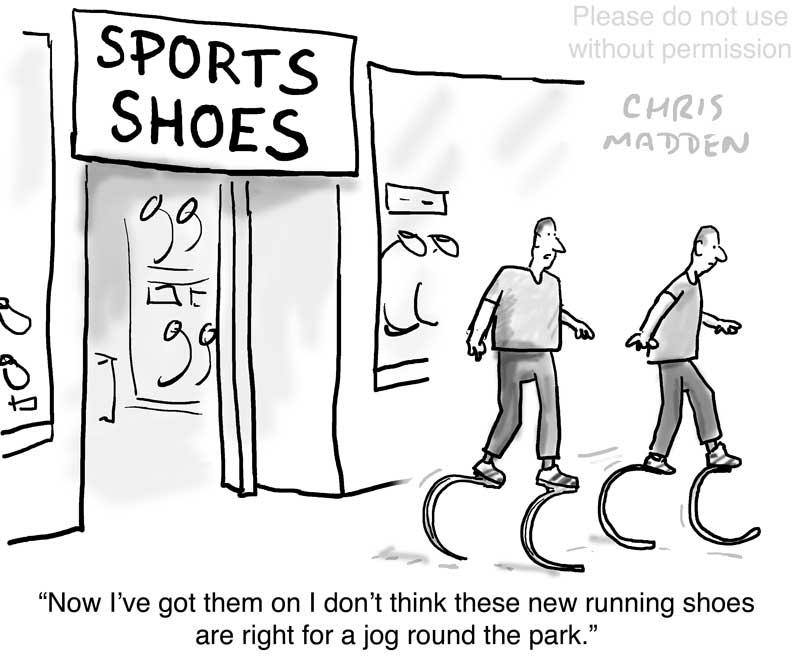 sports shoes paralympics style cartoon