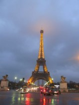 Eiffel Tower all lit up